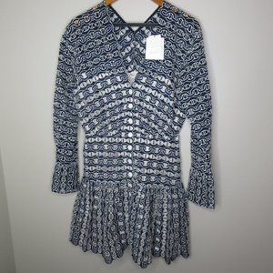 Sandro Rolly Eyelet Lace Dress nwt sz L